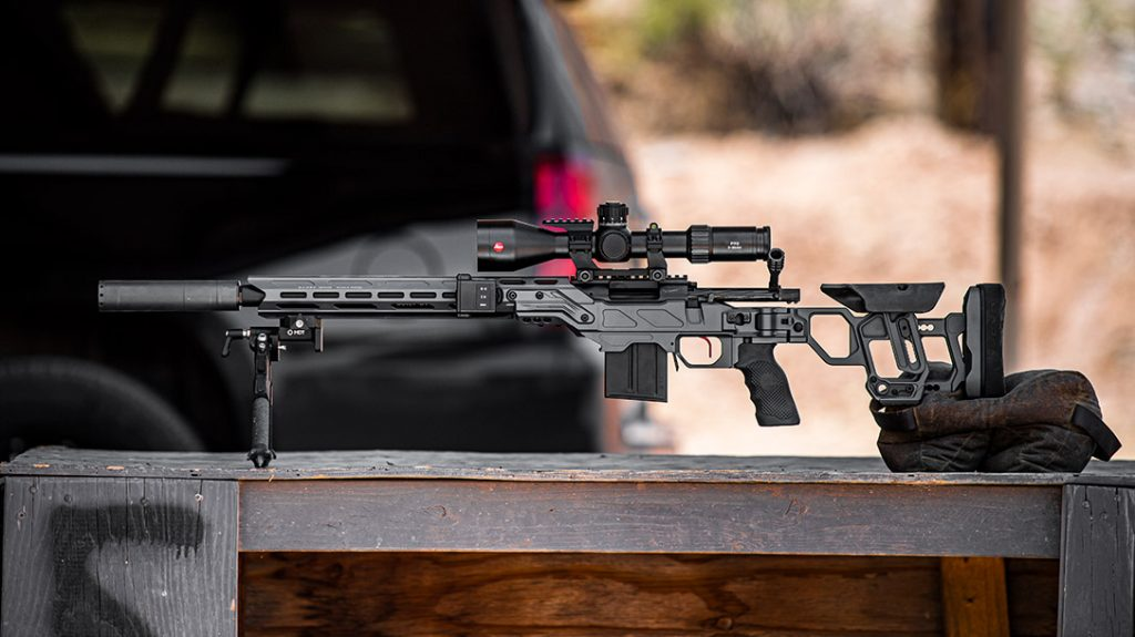 The Cadex Field Competition features a chiseled look, with some of the cleanest lines of the 7 top rifle chassis.