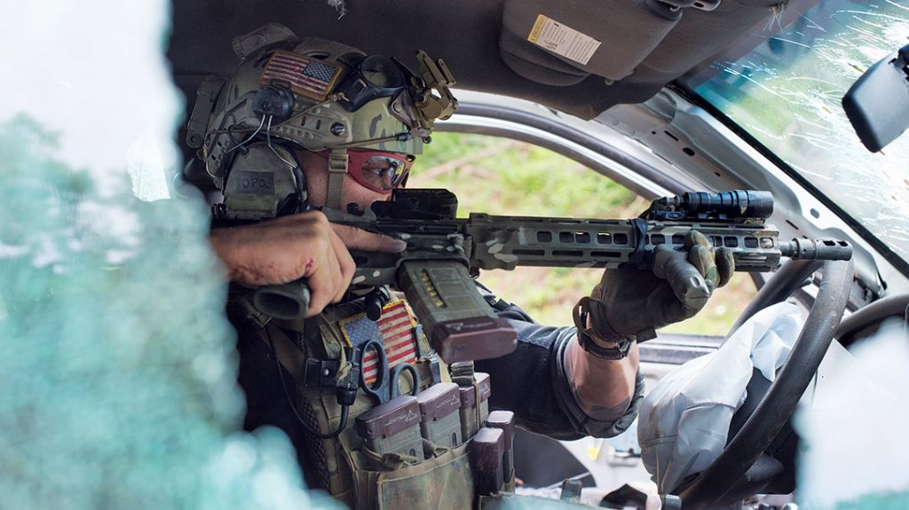 Tu Lam travels around the U.S. to teach law enforcement personnel in the ways of tactics and strategy.