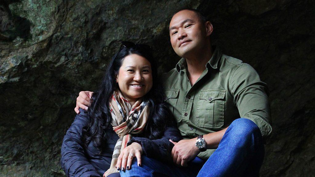 Tu Lam and his wife Ruthie visit Reigandō Cave.