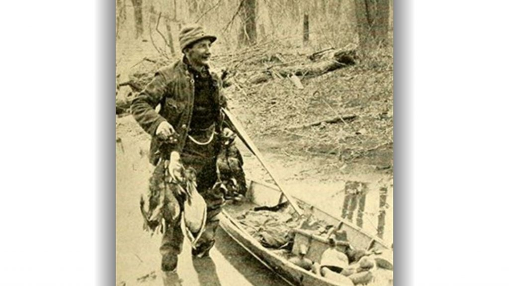 Horace Kephart after a duck hunt.