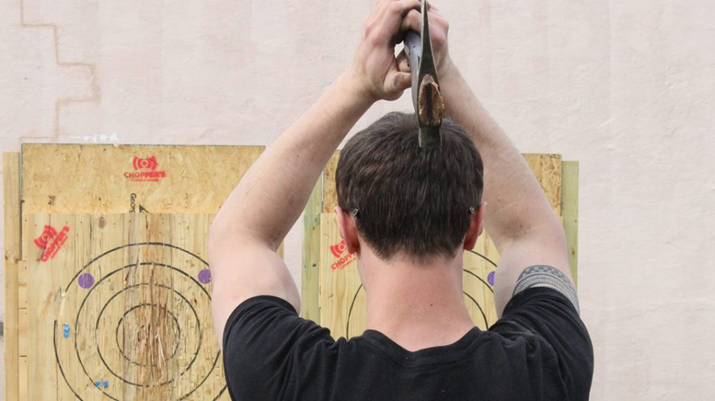 Any axe that does not meet Hoffman's high standards are used for company throwing practice and testing.