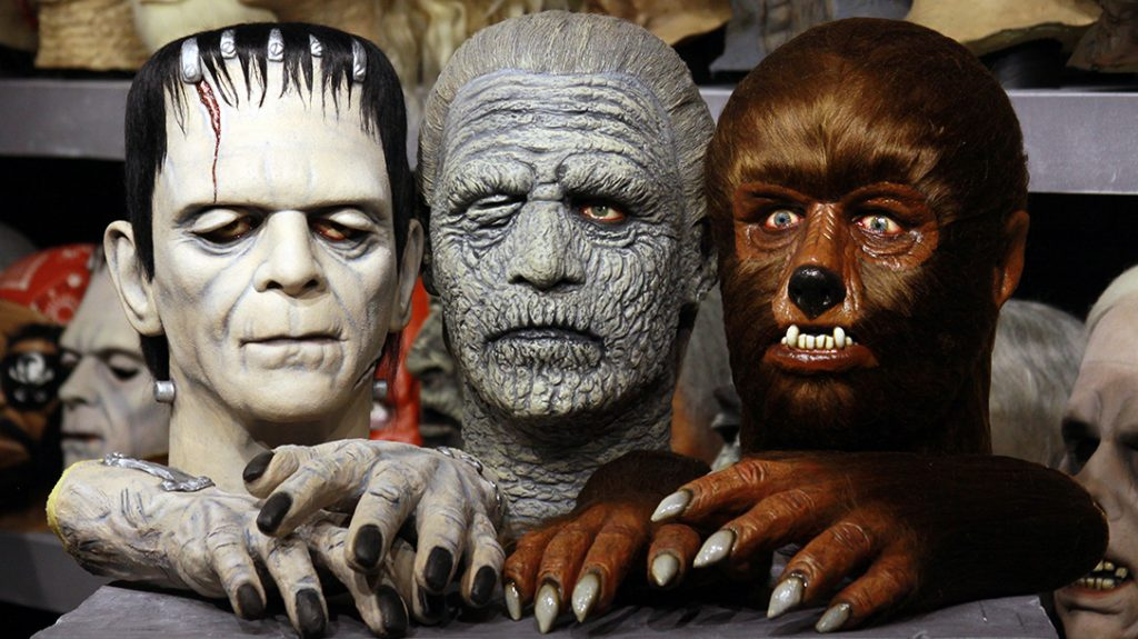 Rudy Munis, collector, masks, universal monsters