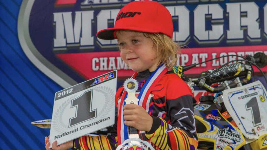 Ryan at 5 years old winning competition.