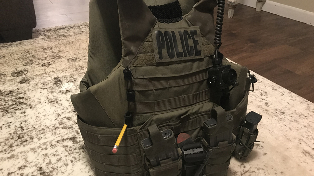 Vest that saved a life with the Oklahoma Highway Patrol