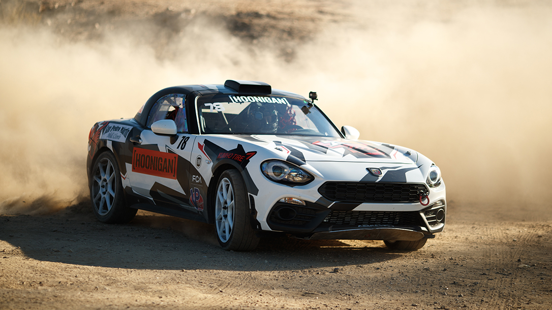 Driving for Team Fiat and Hoonigan.