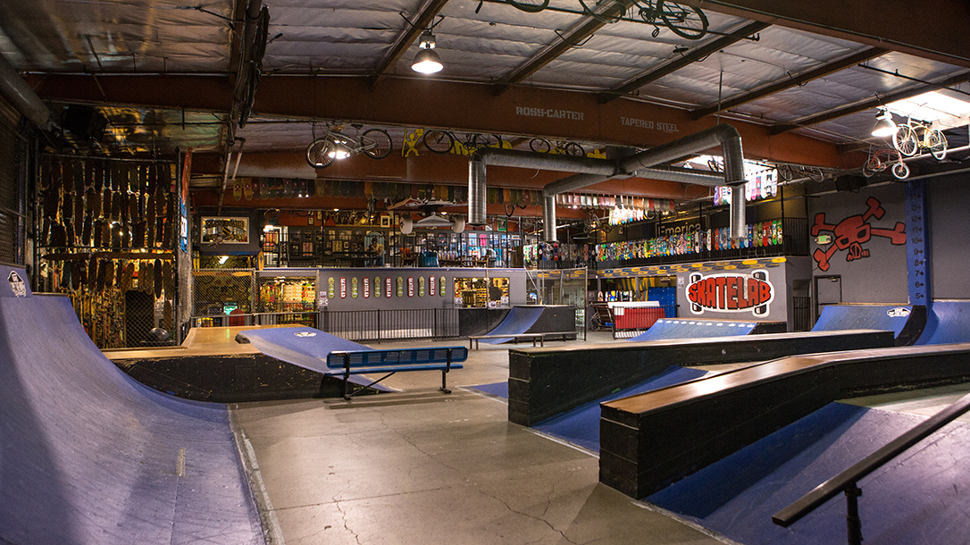Interior shot of the Skatelab