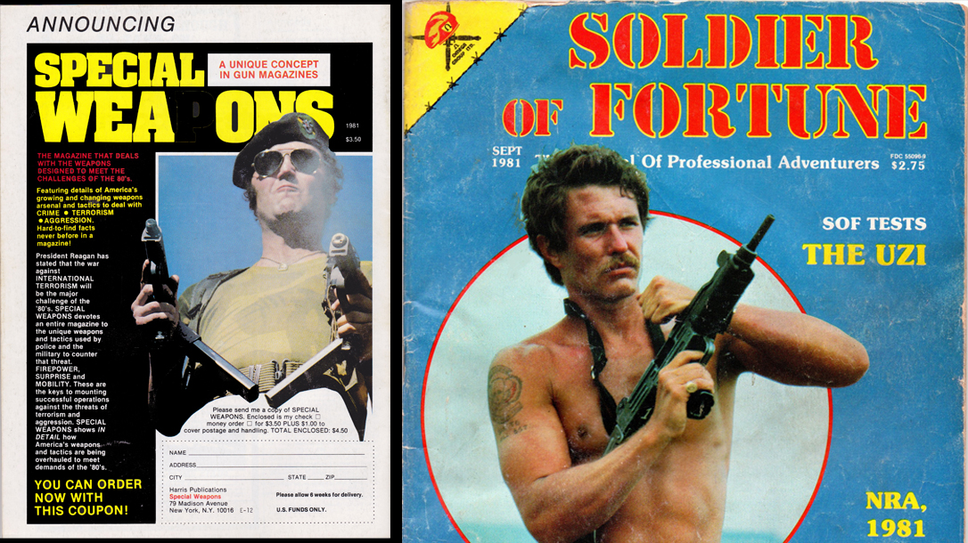 Military classified ads like special weapons were found on the pages of Soldier of Fortune.
