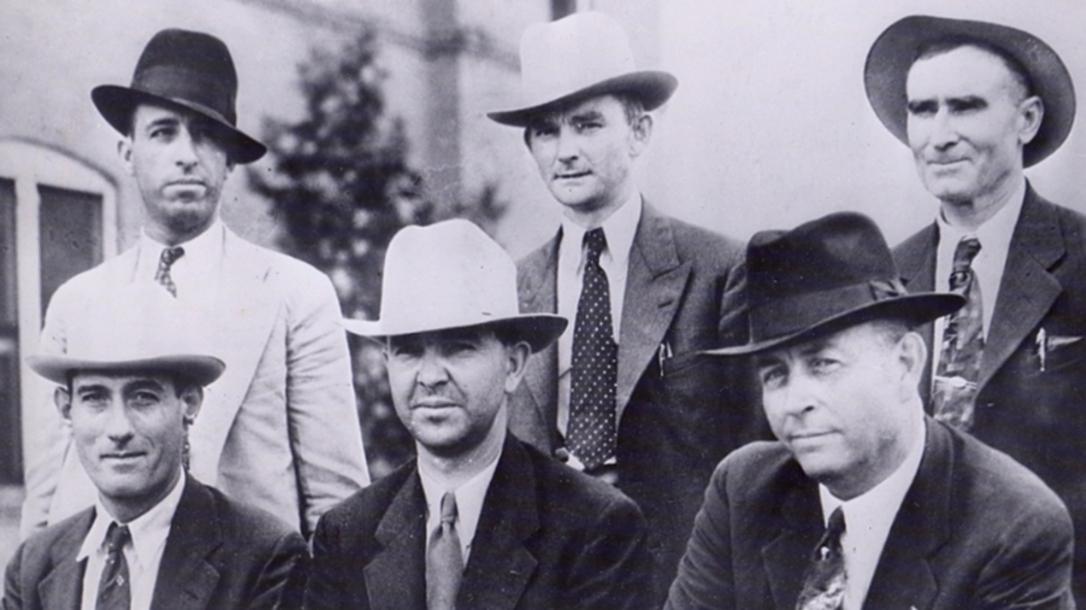 Frank Hamer and his posse, 1934.