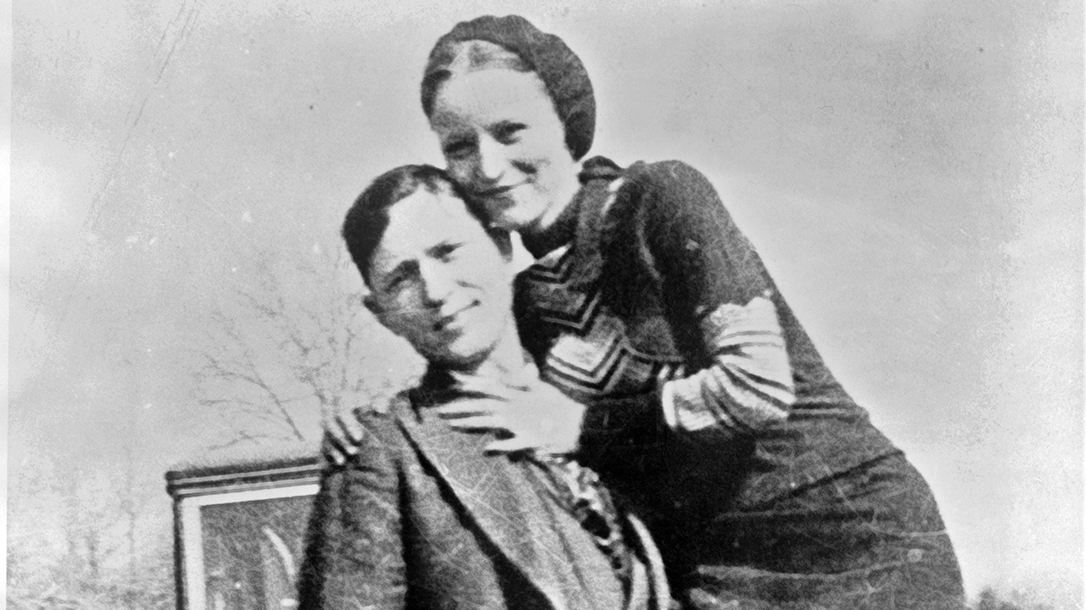 Bonnie and Clyde in happier times, before crossing the Texas Rangers.