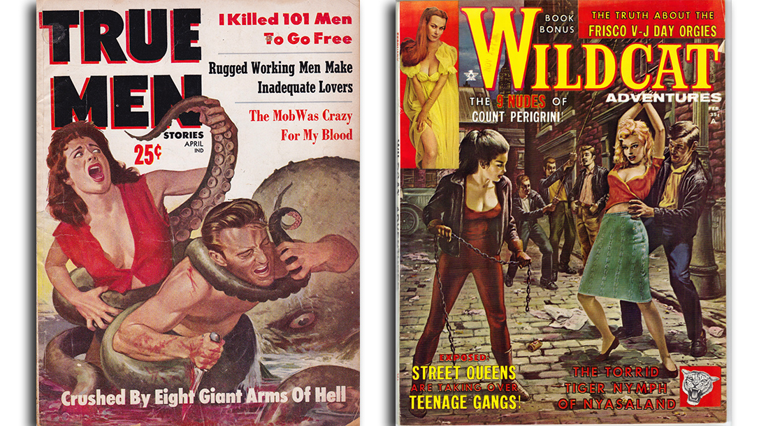 Cover lines on men's pulp magazines from the 50s and 60s were the best!