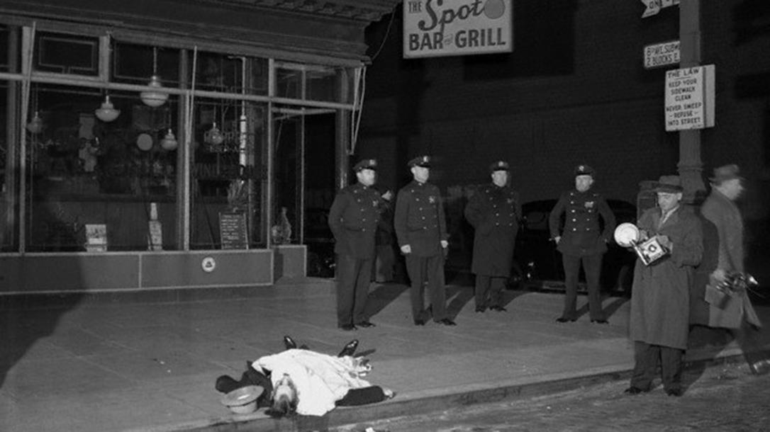 Murder victim in Hells Kitchen, 1939