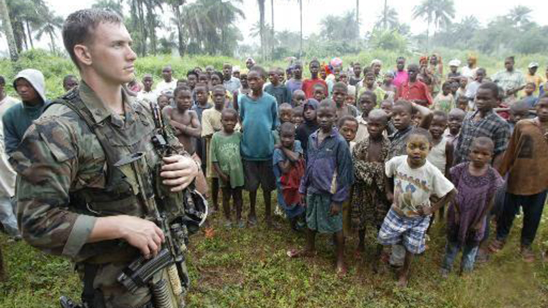 Travis Haley on deployment in West Africa.