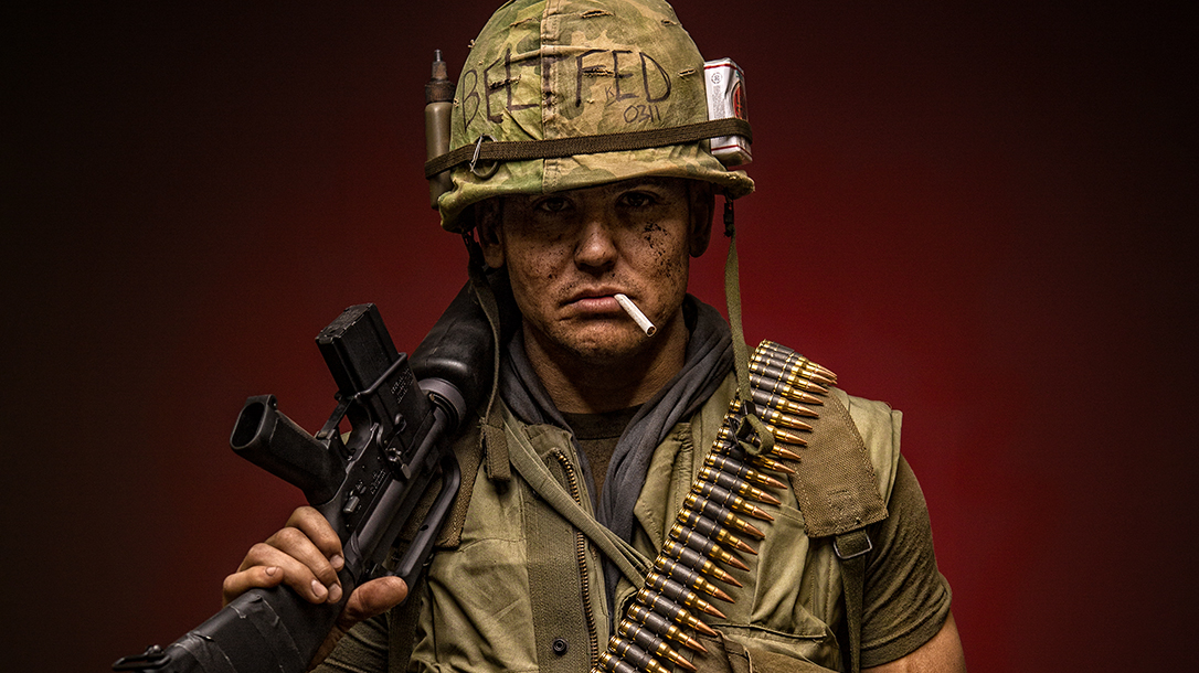A Marine representing the real walking dead battalion in Vietnam.