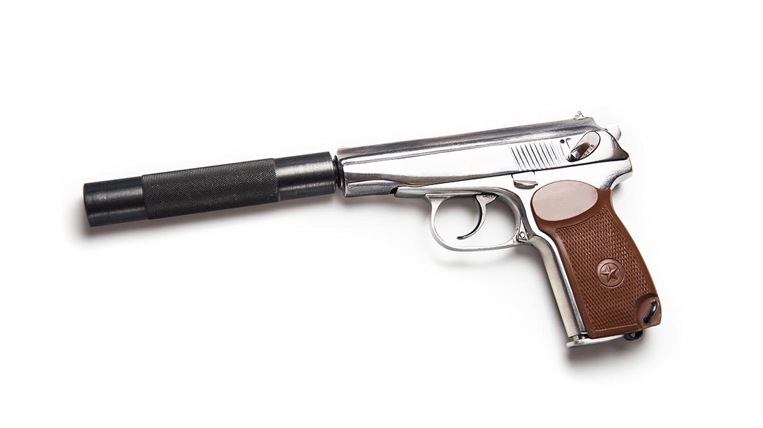 Makarov Pistol With Silencer