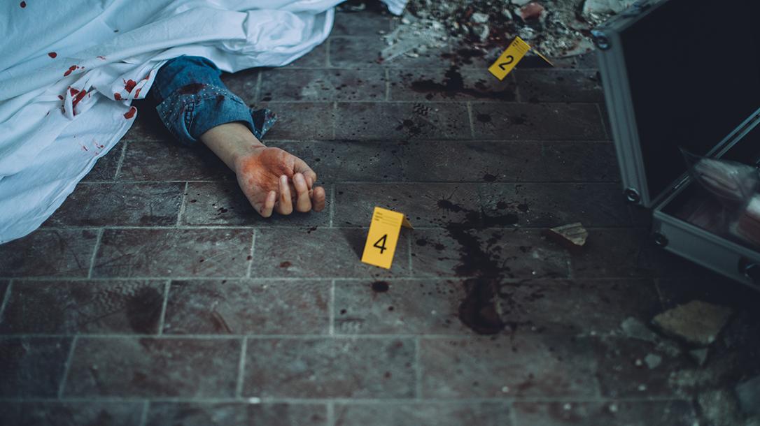 Crime scene photo of a murder.