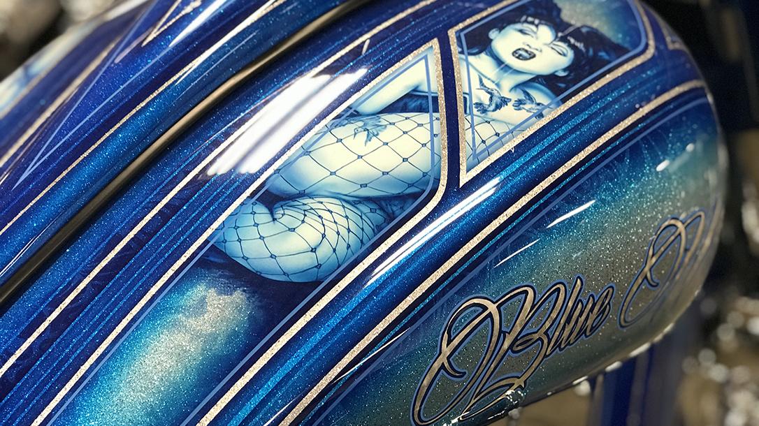 Custom motorcycle artwork by Paint Zoo Studios.