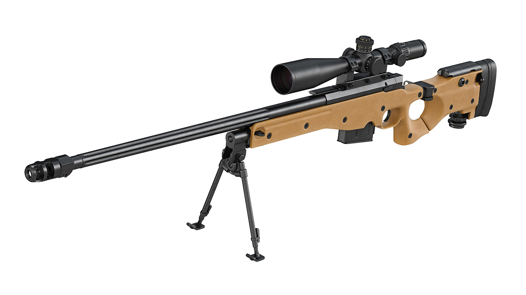 Sniper rifle with scope for hitmen