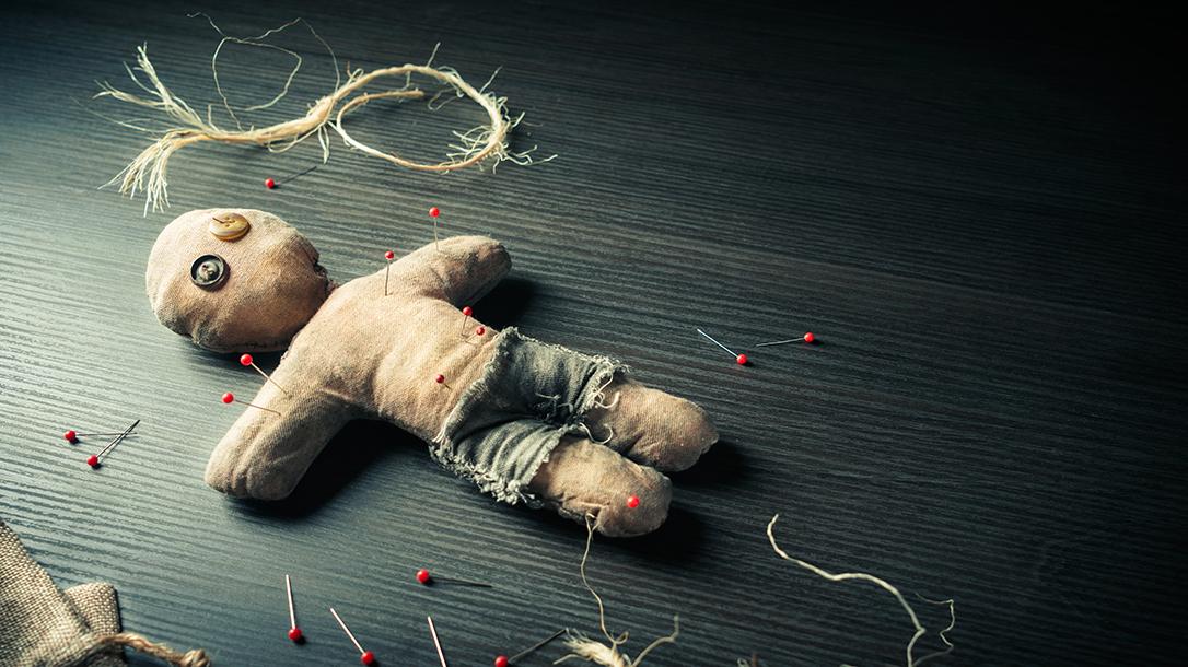 Making a voodoo doll is fun!