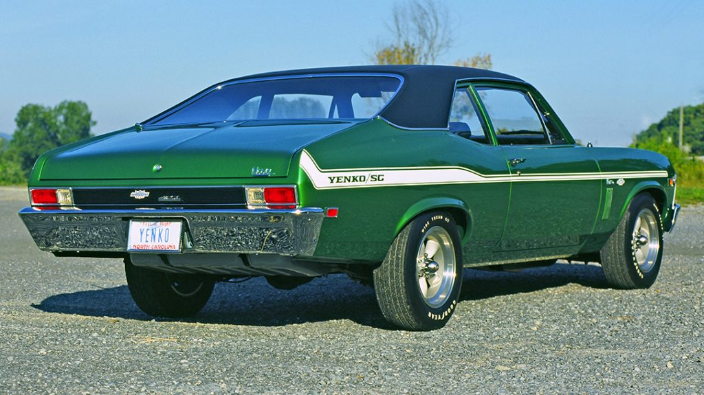 1969 Don Yenko Chevy Nova, muscle car, rear