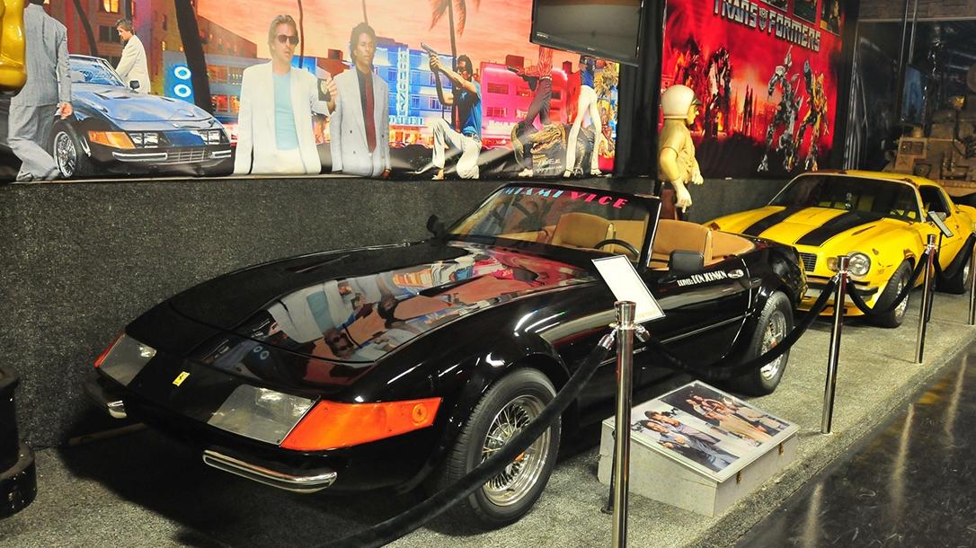 The Ferrari along with more Miami Vice Memorabilia.