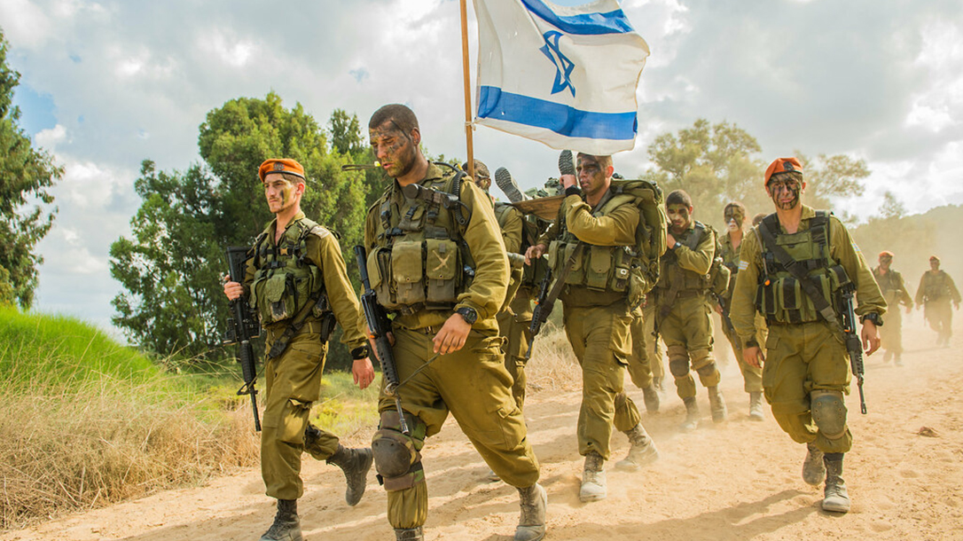 IDF are fierce warfighters, shown here on a march.