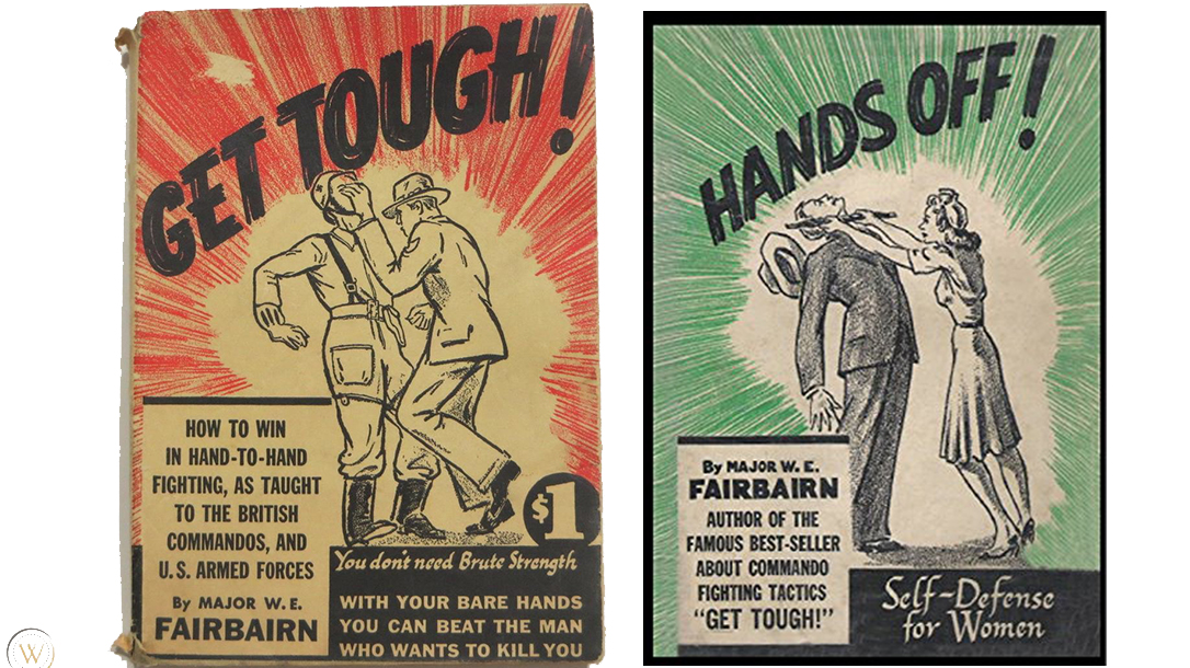 Action packed artwork adorns the covers of William E Fairbairn books.