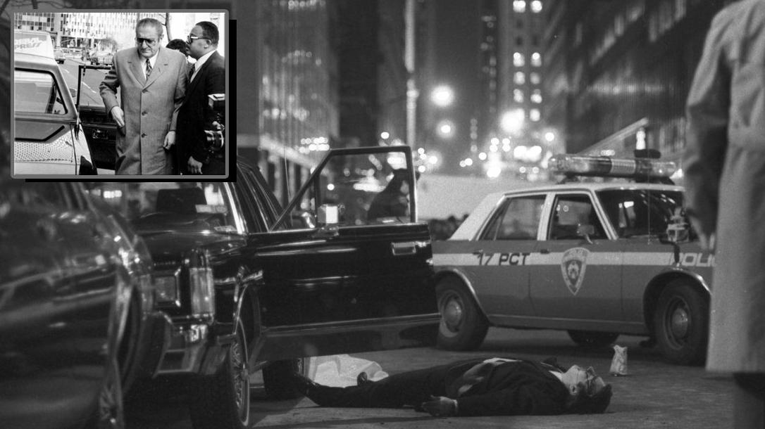 The assassination of Mob boss Paul Castellano.