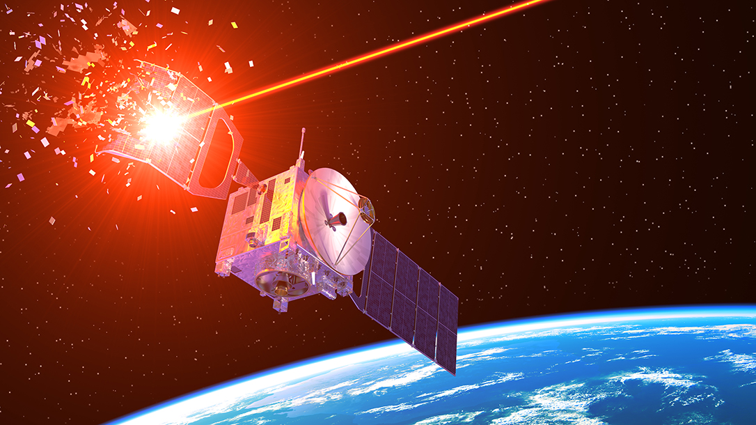 earth orbiting satellites provide the perfect platform for military laser weapons.