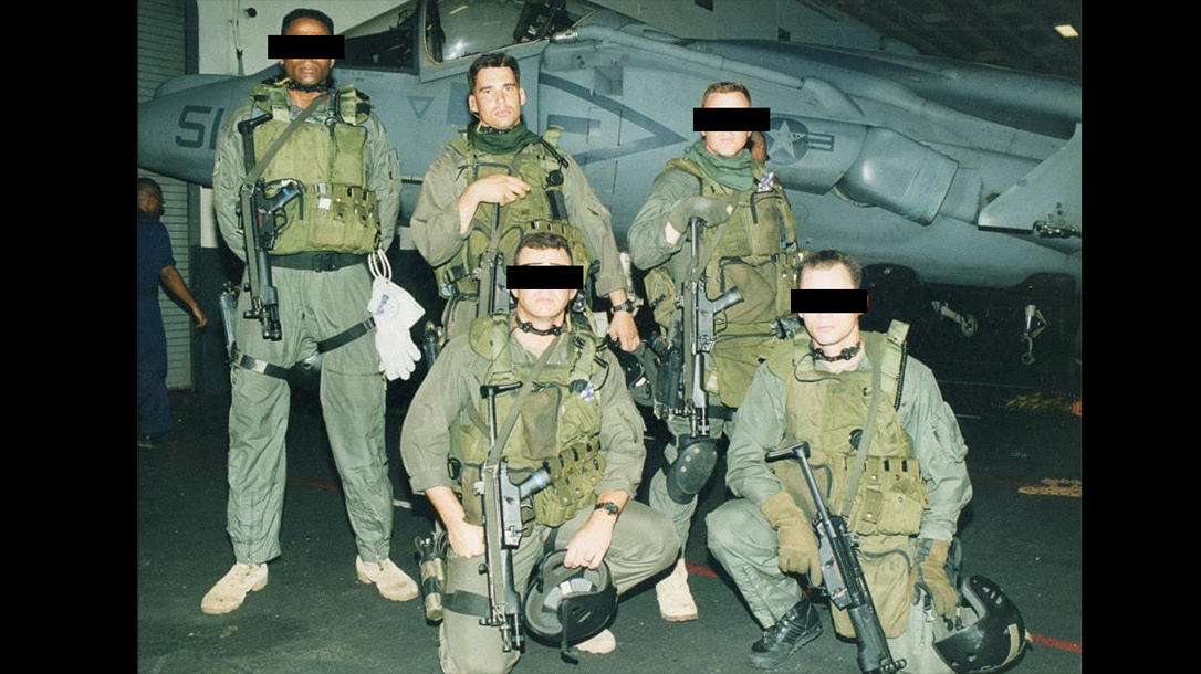 90s era Force Recon Marines gear up for CQB.