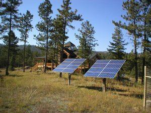 Solar panel array backup power