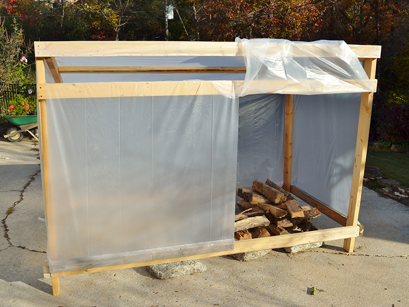 Solar Wood Dryer completed lead