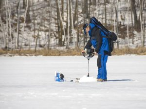 Ice fishing preparation