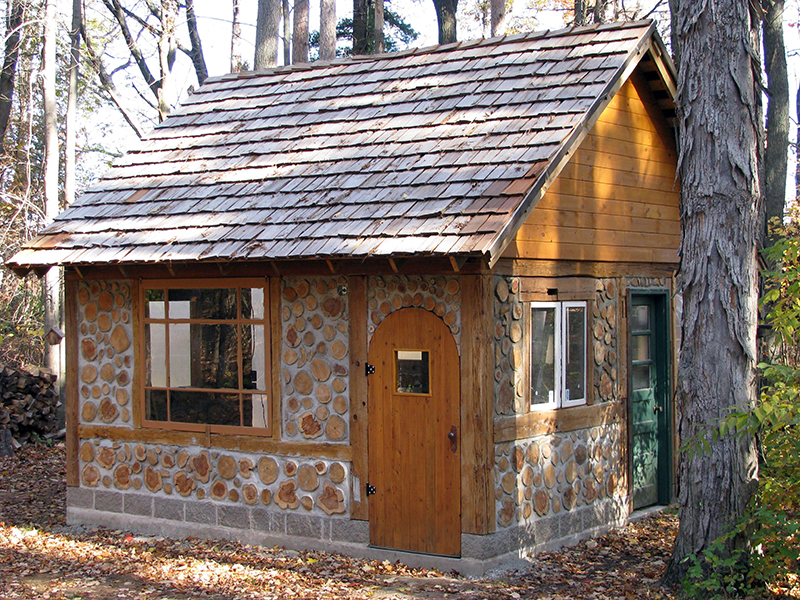 Build your own cordwood castle for How to build a small home