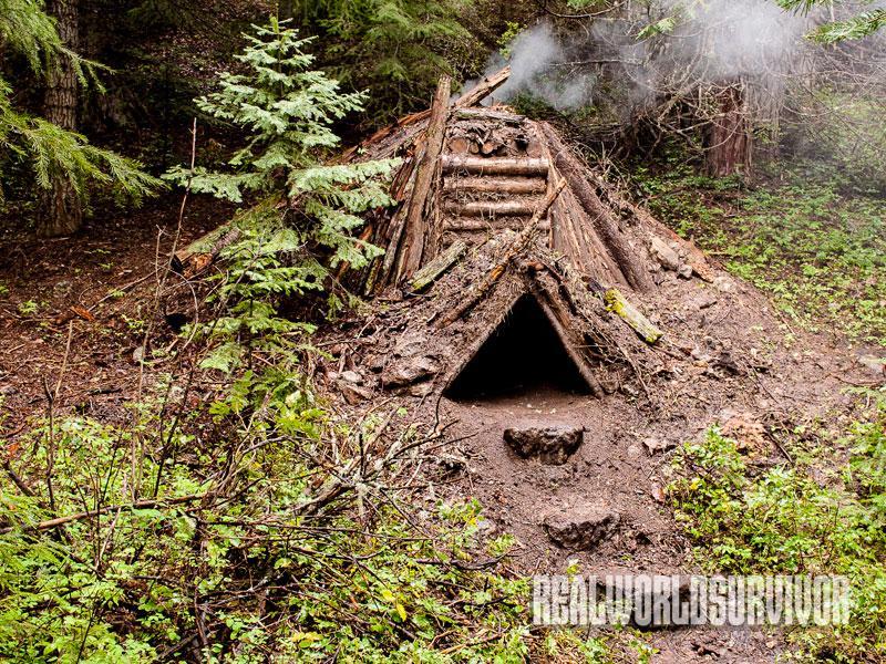 debris hut, hut, build debris hut, building debris hut, debris huts