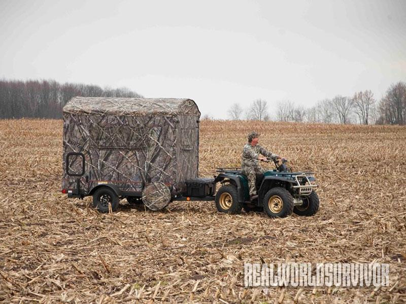 The EZ Hunt & Haul blind is built especially for the hunter with an ATV.