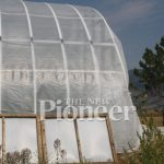 Plastic-covered greenhouse