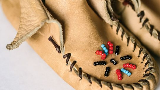 Making moccasins 8