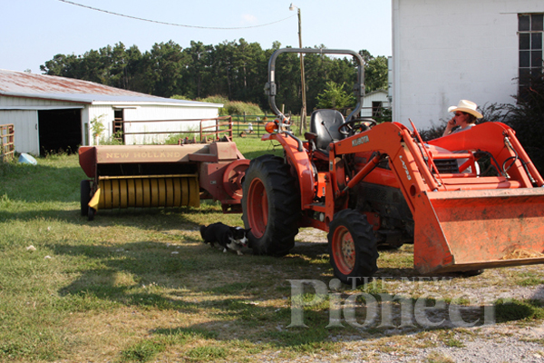 haymaking field tractor