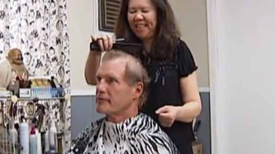 haircut, cancer, steve dodge