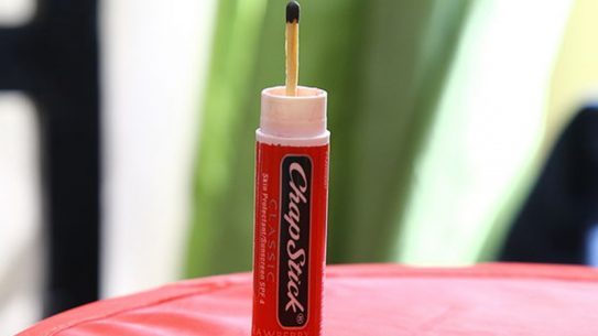 Chapstick survival tool