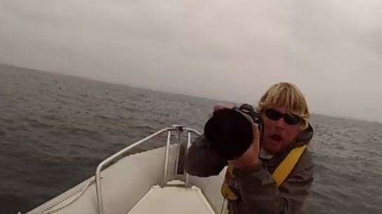 Dale Frink whale watching GoPro