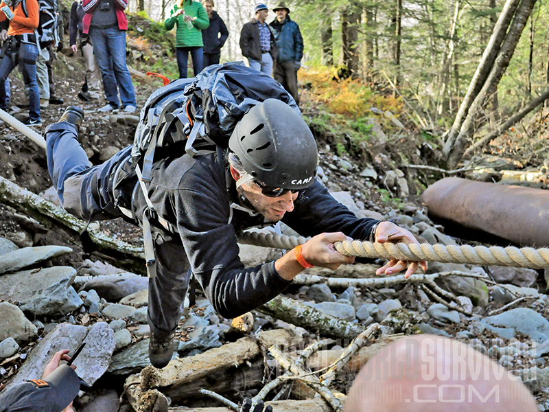 Navigating the Backwoods rope