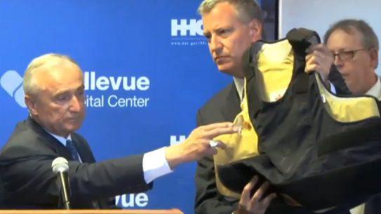 NYPD shooting bulletproof vest