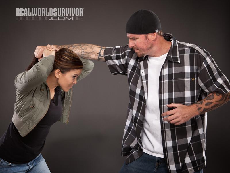 hair grab, how to escape a hair grab, hair, self defense