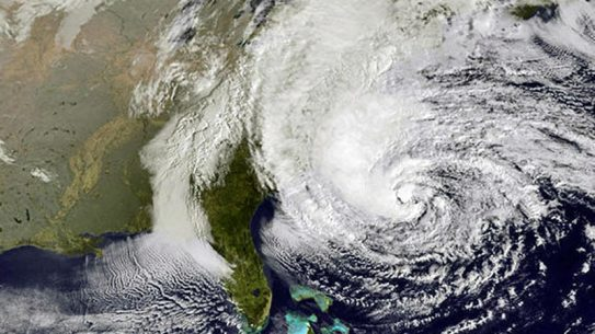 NOAA hurricane sandy image