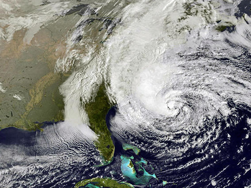 NOAA hurricane sandy image