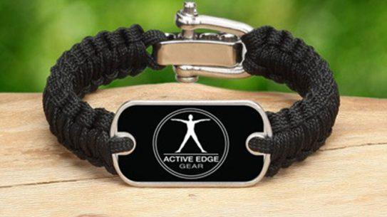Active Edge Survival Bracelet Logo