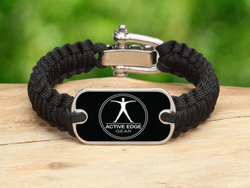Active Edge Survival Bracelet Logo