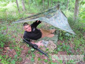 Backwoods Shelter evergreen Step 8-2