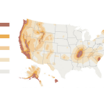 Earthquake risk map FEMA